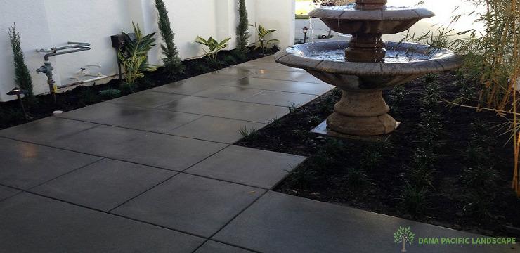 Scored Concrete Surface